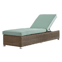HomeVance Ravinia Mocha Wicker Chaise Lounge Chair