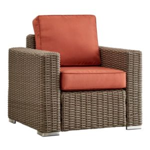 HomeVance Ravinia Mocha Wicker Patio Arm Chair