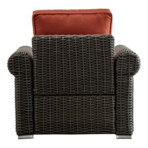 HomeVance Ravinia Charcoal Wicker Patio Round Arm Chair