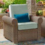 HomeVance Ravinia Mocha Wicker Patio Round Arm Chair