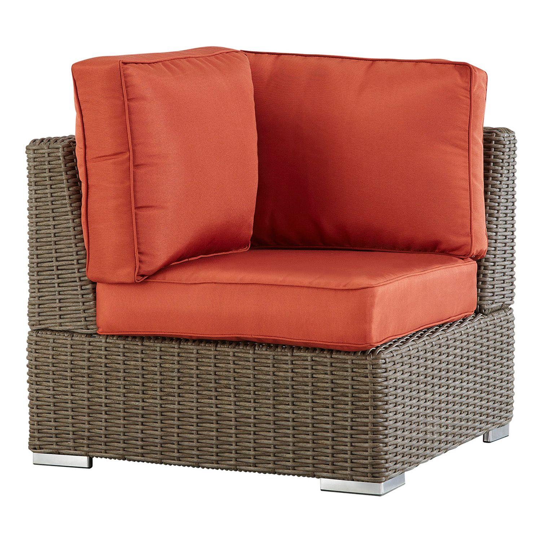 Ordinaire HomeVance Ravinia Mocha Wicker Patio Corner Chair