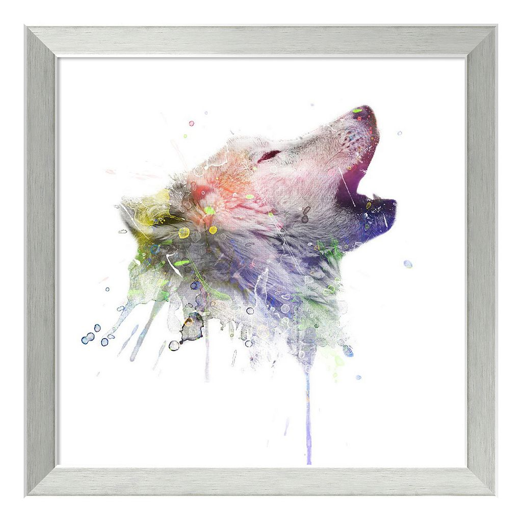 Amanti Art Wolf Framed Wall Art