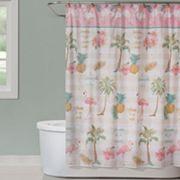 Saturday Knight, Ltd. Flamingo Garden Shower Curtain
