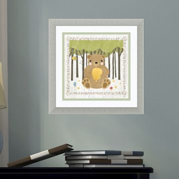 Amanti Art Woodland Hideaway Bear Framed Wall Art