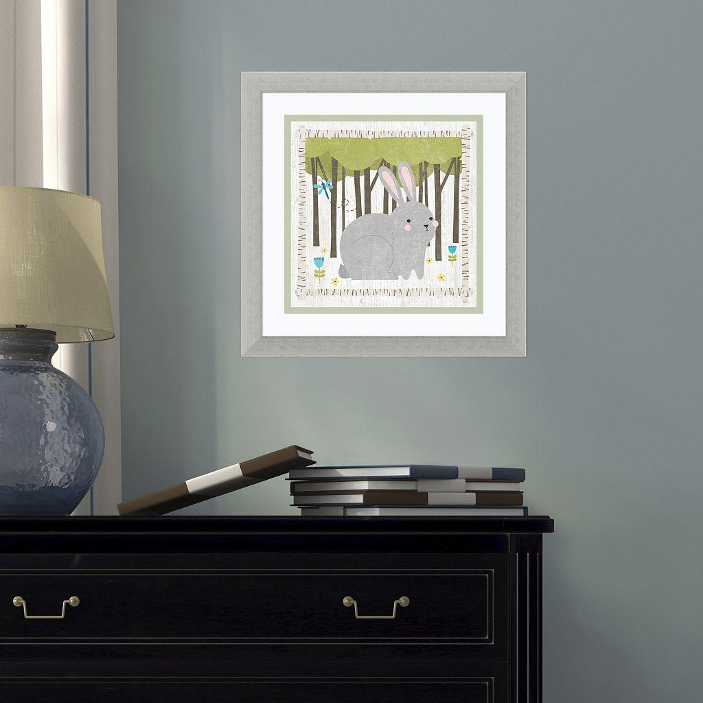 Amanti Art Woodland Hideaway Bunny Framed Wall Art