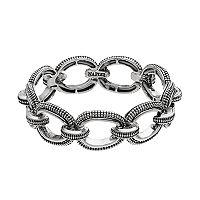 Napier Beaded Oval Stretch Bracelet