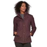 Women's Chaps Faux-Leather Trim Quilted Jacket
