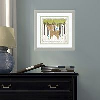 Amanti Art Woodland Hideaway Deer Framed Wall Art