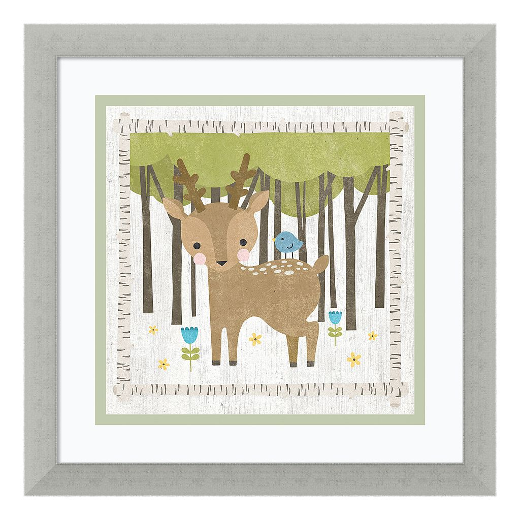 Amanti Art Woodland Hideaway Deer Framed Wall Art