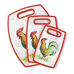 Cuisinart Rooster Collection 3 pc Cutting Board Set