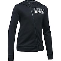 Girls 7-16 Under Armour Asymmetrical Fleece Full-Zip Hoodie