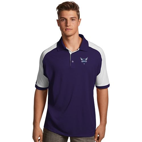 Men's Antigua Charlotte Hornets Century Polo