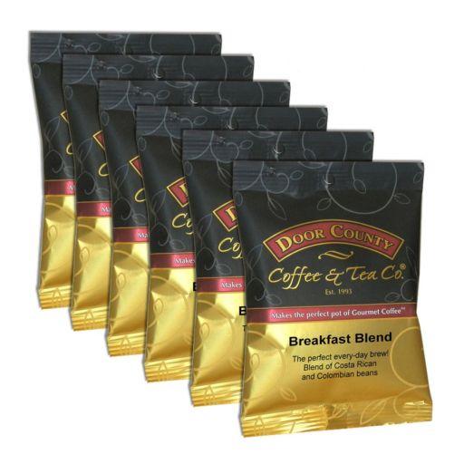 Door County Coffee Breakfast Blend Ground Coffee 6-pk.