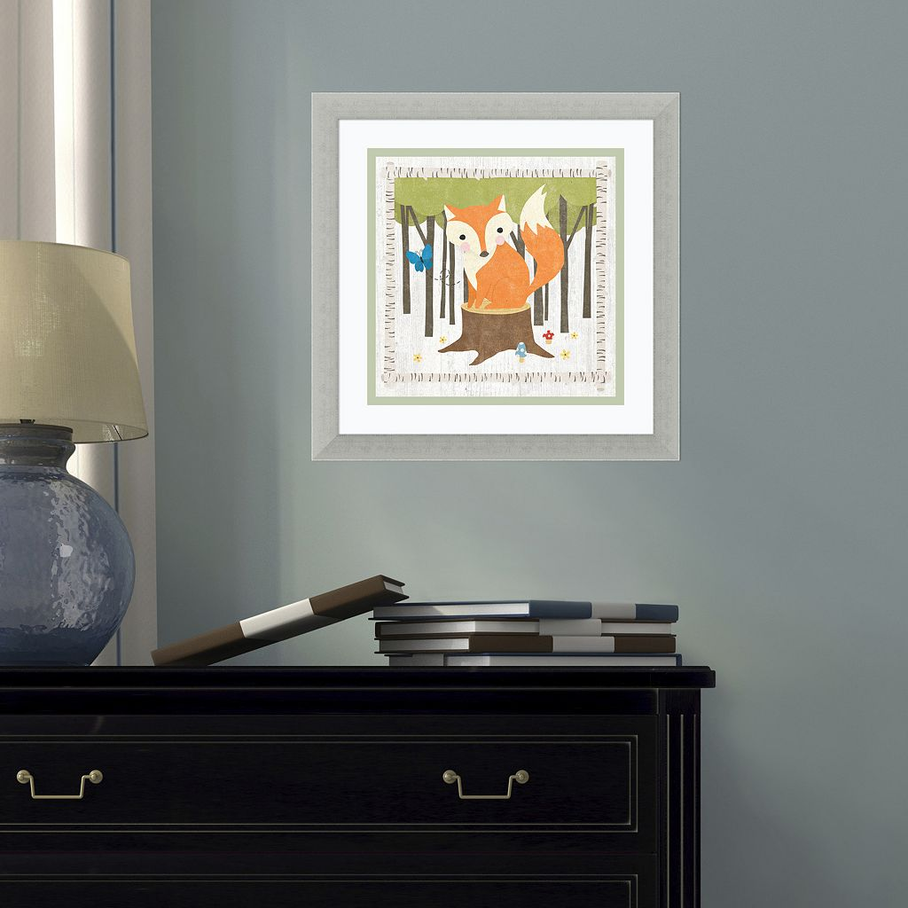 Amanti Art Woodland Hideaway Fox Framed Wall Art