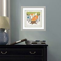 Amanti Art Woodland Hideaway Fox Framed Wall Art