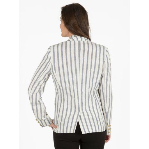 Women's Harve Benard Striped Linen Blazer