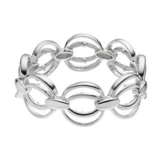 Napier Elliptical Circle Link Stretch Bracelet