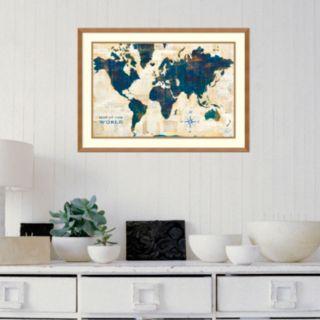 Amanti Art World Map Collage Framed Wall Art
