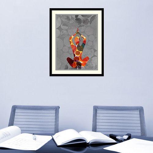 Amanti Art Yoga Pose III Framed Wall Art