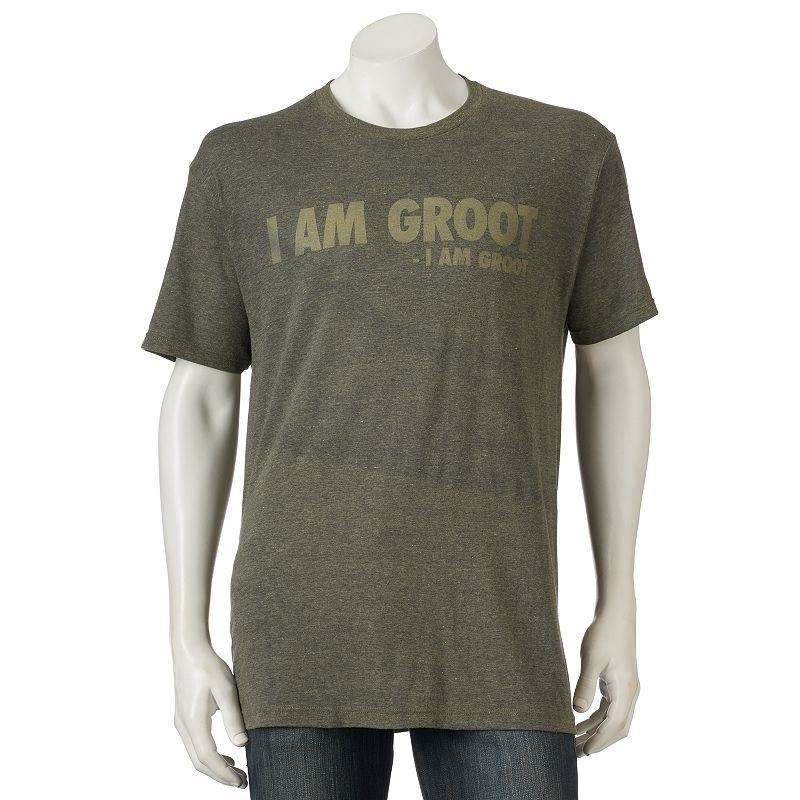 """""""Men's Marvel """"""""I Am Groot"""""""" Guardians of the Galaxy Tee. Size: Small. Green"""""""