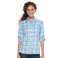 Women's Dickies Plaid Button-Down Shirt