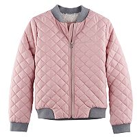 Girls 4-16 SO® Quilted Bomber Jacket