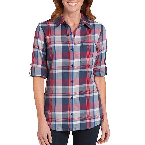 Plus Size Dickies Plaid Button-Down Shirt