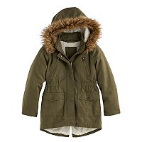 Girls 4-16 SO® Faux-Fur Lined Anorak Jacket