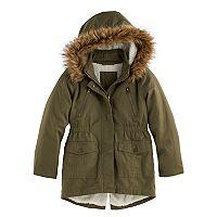 Girls 4-16 SO® Faux-Fur Lined Anorak Jacket