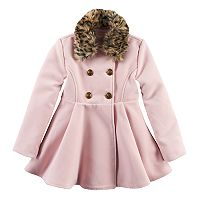 Girls 4-16 SO® Faux-Fur Wool Coat