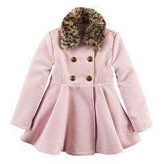 Girls 4-16 SO® Faux-Fur Wool Coat