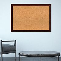 Amanti Art Rubino Cherry Finish Framed Cork Board Wall Decor