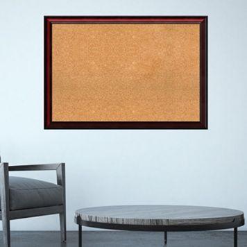 Amanti Art Rubino Cherry Finish Framed Cork Board Wall Decor