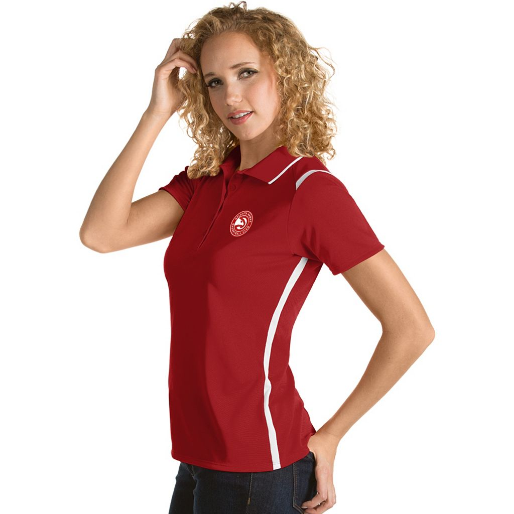 Women's Antigua Atlanta Hawks Merit Desert Dry Polo
