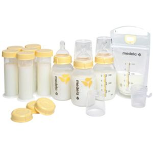 Medela Breast Milk Bottle & Storage Feeding Gift Set
