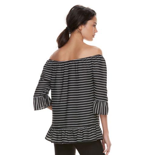 Women's ELLE™ Print Off-the-Shoulder Top