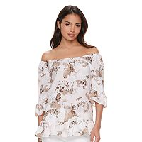 Women's ELLE™ Print Off-the-Shoulder Top