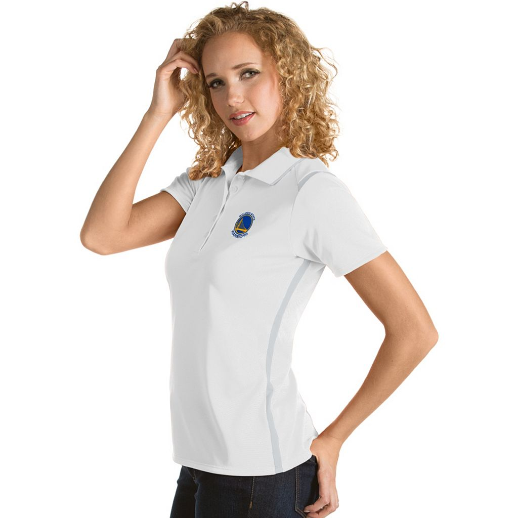 Women's Antigua Golden State Warriors Merit Desert Dry Polo