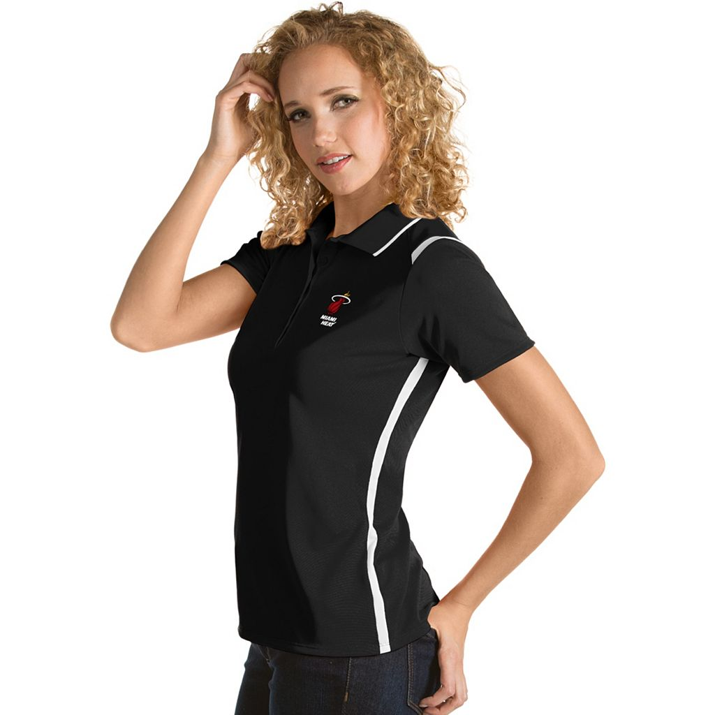 Women's Antigua Miami Heat Merit Desert Dry Polo