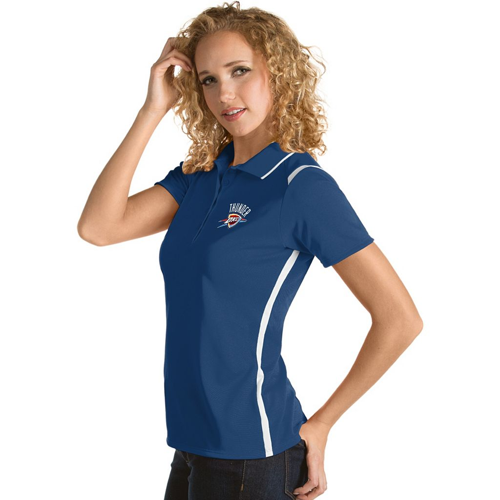 Women's Antigua Oklahoma City Thunder Merit Desert Dry Polo