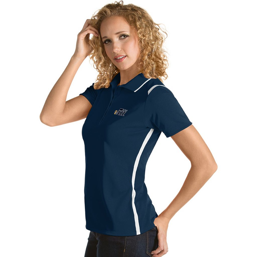 Women's Antigua Utah Jazz Merit Desert Dry Polo