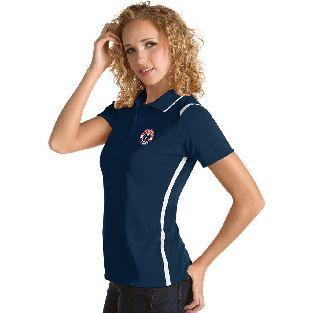 Women's Antigua Washington Wizards Merit Desert Dry Polo