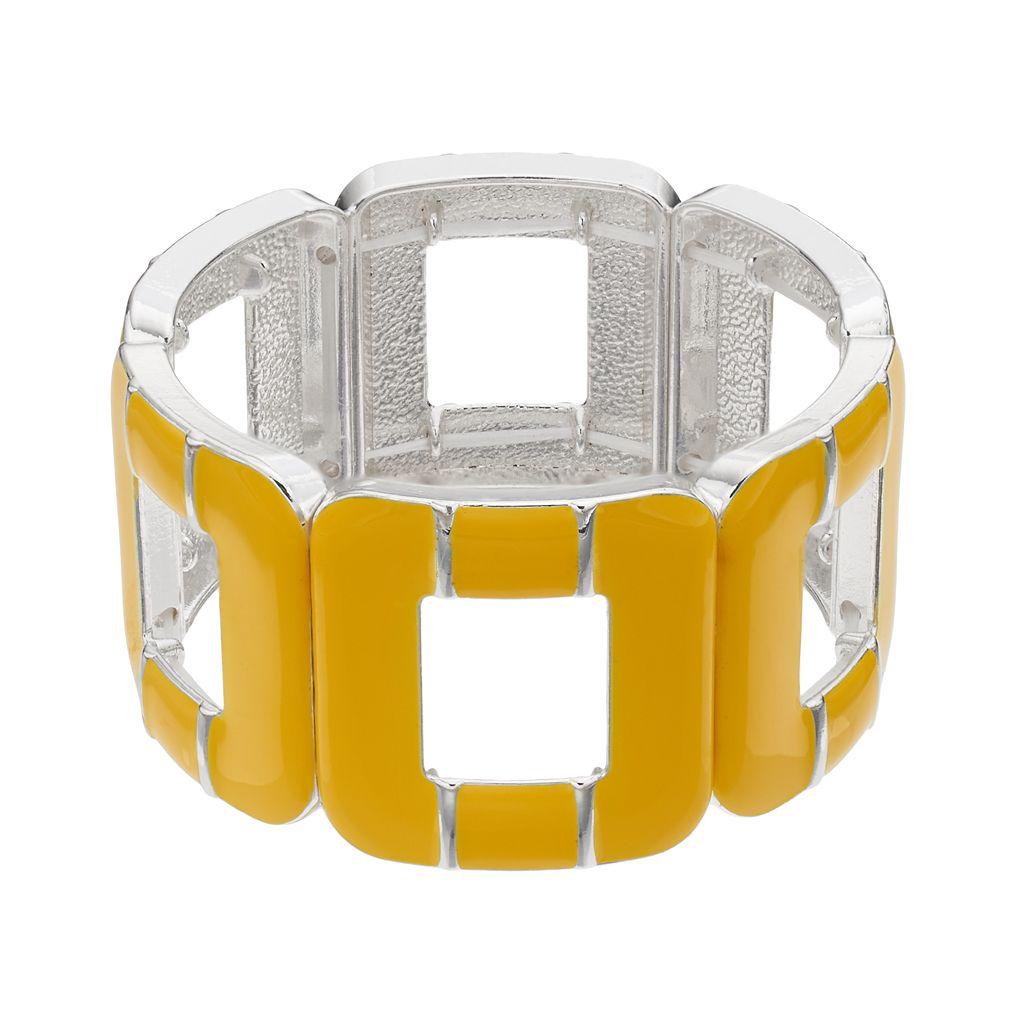 Openwork Square Stretch Bracelet