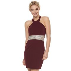 Juniors' Speechless Halter Bodycon Dress