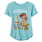 Disney's Moana Girls 7-16 'Bold Adventurer' Graphic Tee