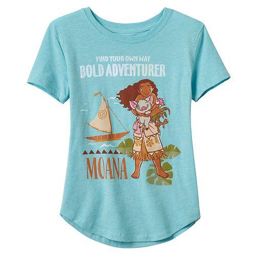 "Disney's Moana Girls 7-16 ""Bold Adventurer"" Graphic Tee"