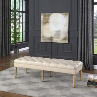 HomePop Layla Tufted Bench