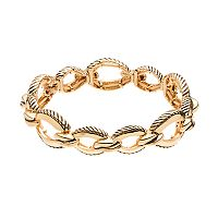 Napier Textured Oval Link Stretch Bracelet