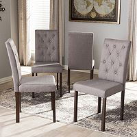 Baxton Studio Gardner Tufted Dining Chair 4 pc Set