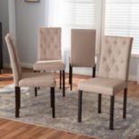 Baxton Studio Gardner Tufted Dining Chair 4 pc Set